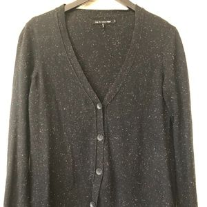 Rag & Bone black cardigan with colored flecks S